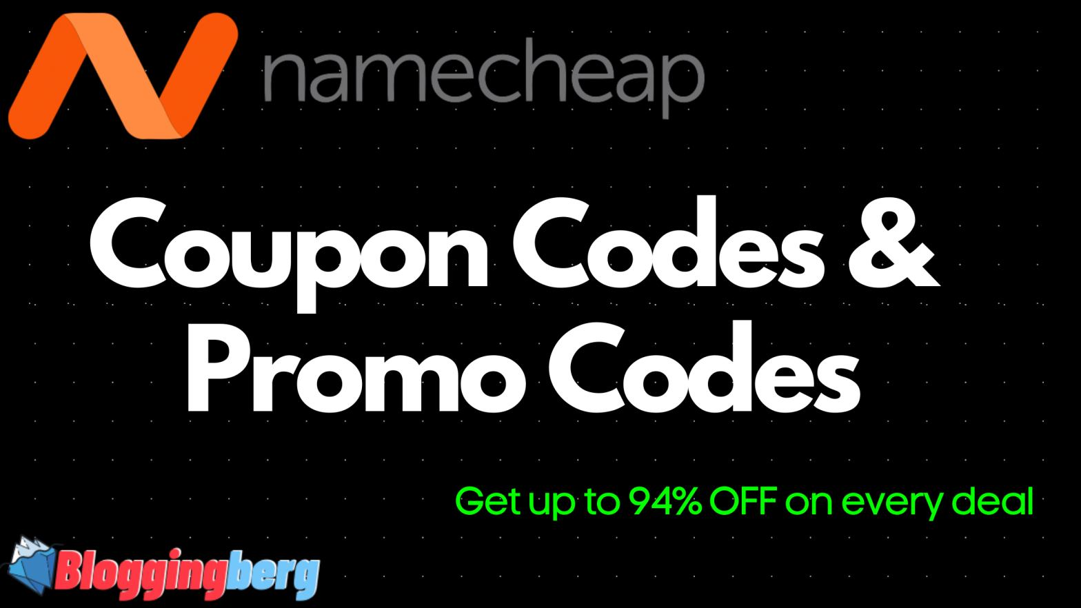 namecheap coupon & namecheap promo code